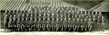 Officers Group from Ashton Home Guard commanded by Lieutenant Colonel F R Halliwell MC.