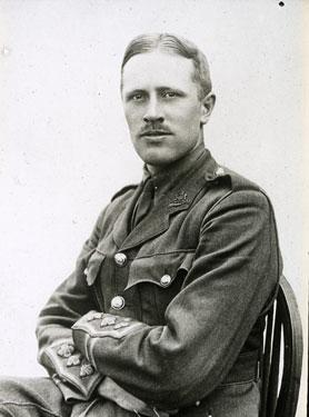 Captain Hubert Worthington of A Company. 1st City Battalion.